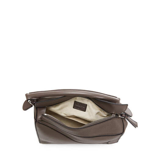 LOEWE Bolso Puzzle Pequeño Topo Oscuro front