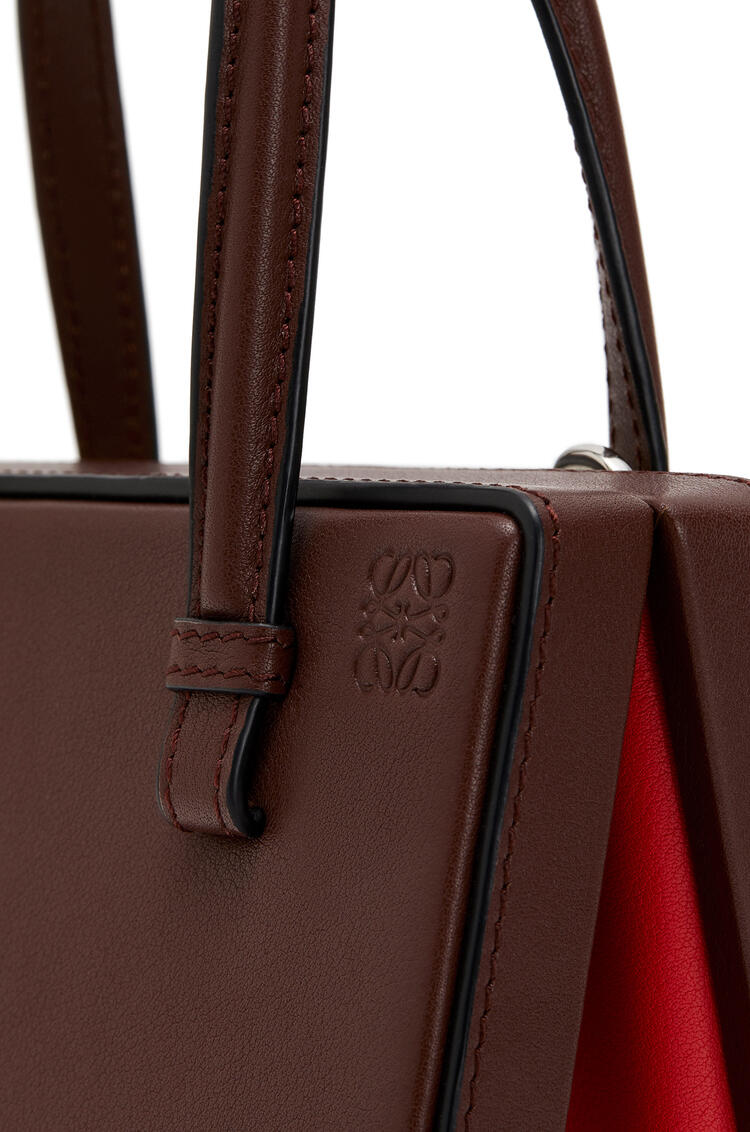 LOEWE Small Barcelona Postal bag in natural calfskin Wine pdp_rd