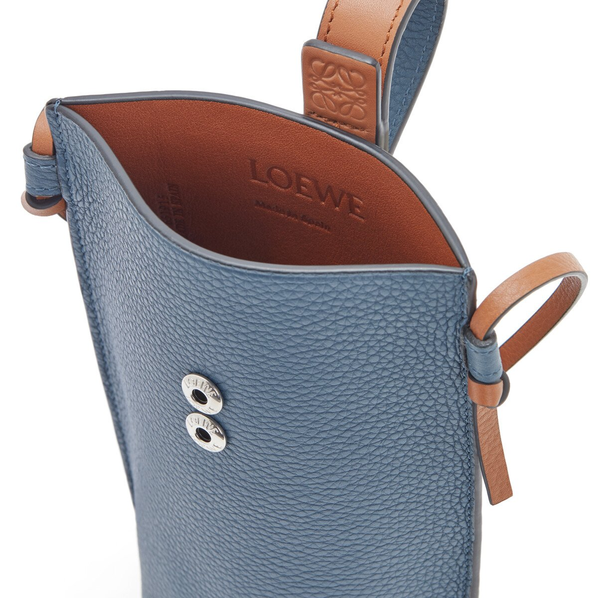 LOEWE Pocket Steel Blue/Tan front