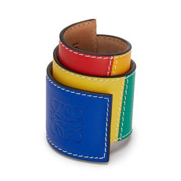 LOEWE Brazalete Patchwo Slap Grande Multicolor front