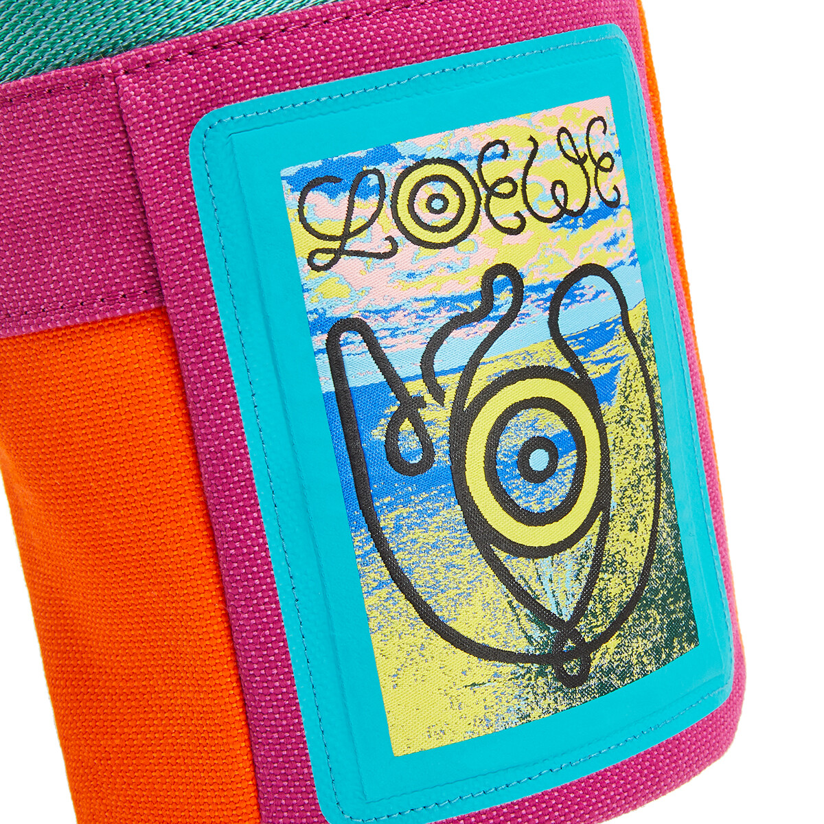 LOEWE Eye/Loewe/Nature Chalk Bag Violet/Orange front