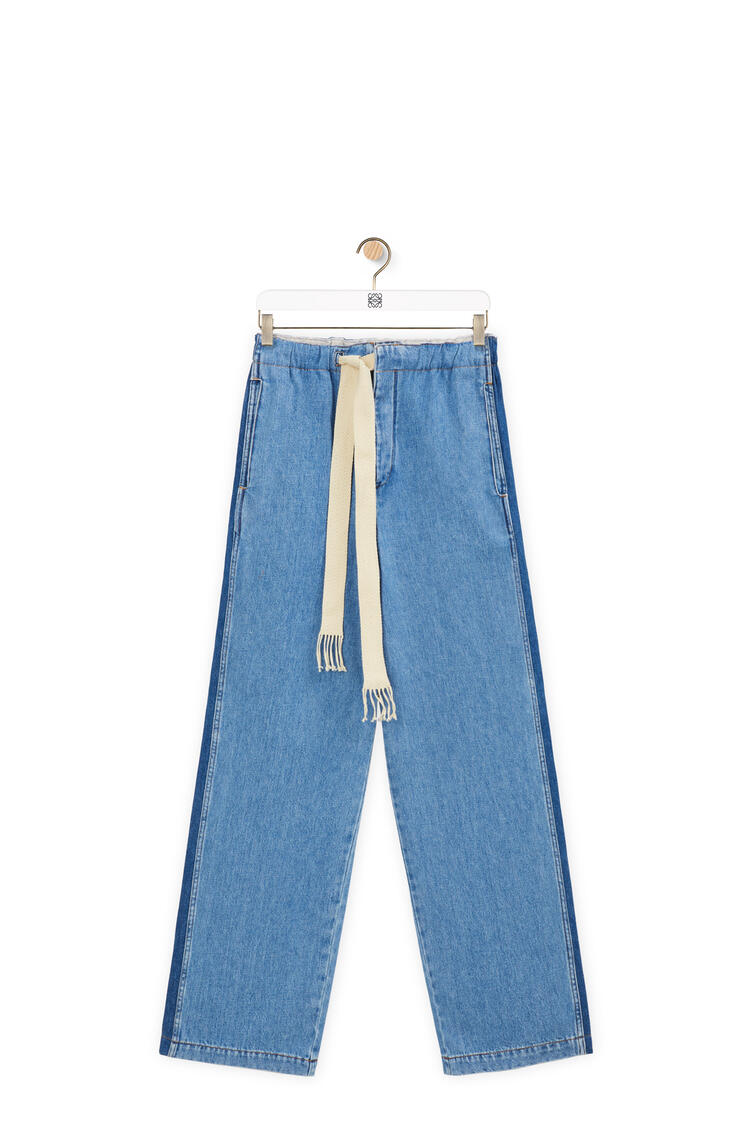 LOEWE Drawstring jeans in cotton Light Blue pdp_rd