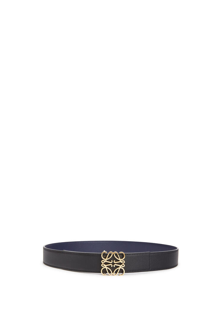 LOEWE Anagram Belt In Soft Calfskin Black/Navy/Gold pdp_rd