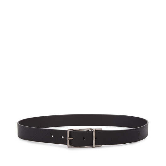LOEWE Formal Belt 3.2Cm Adj/Rev black/ruthenium front