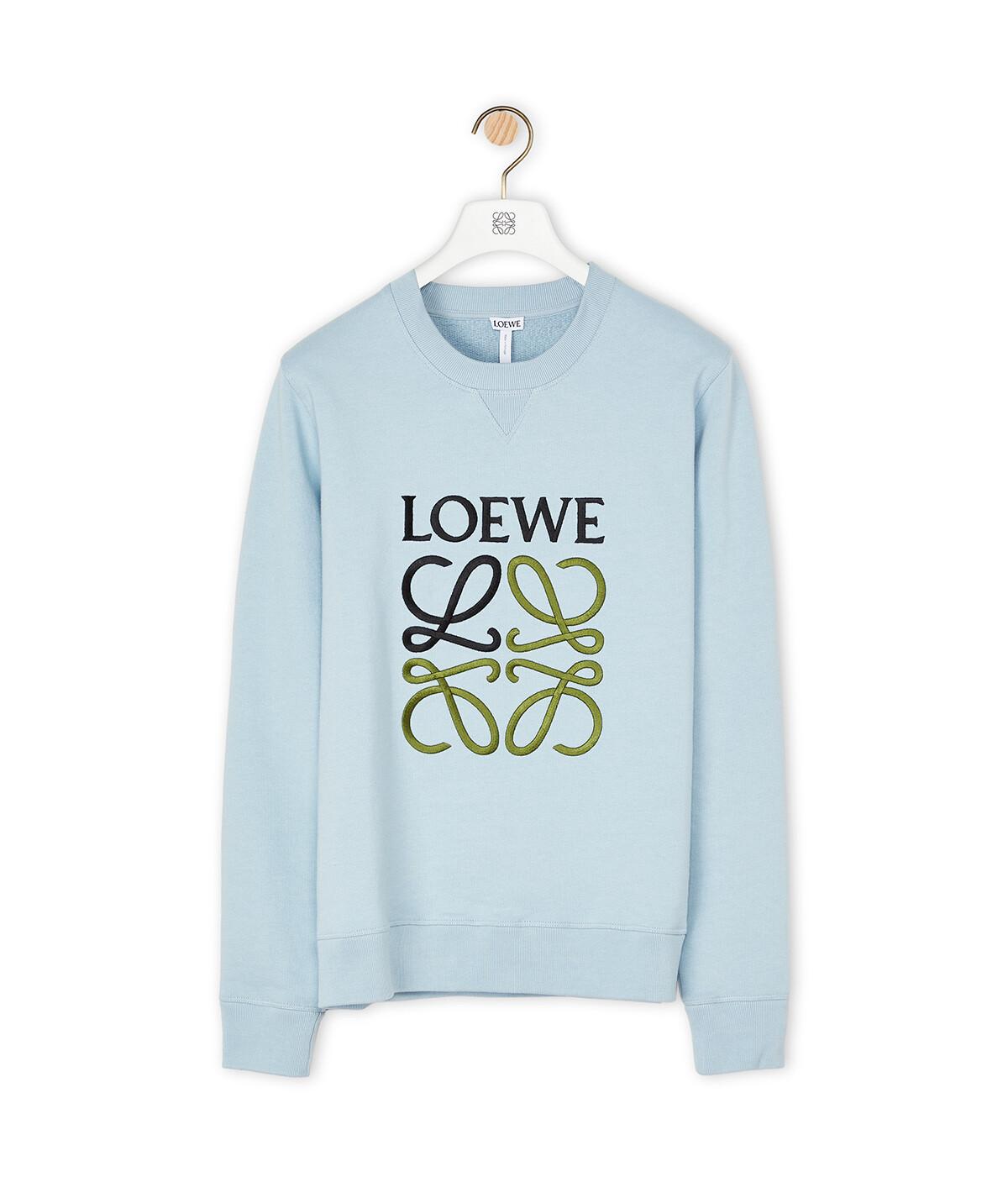 LOEWE Anagram Sweatshirt Baby Blue front