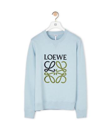 LOEWE Anagram Sweatshirt 粉藍色 front