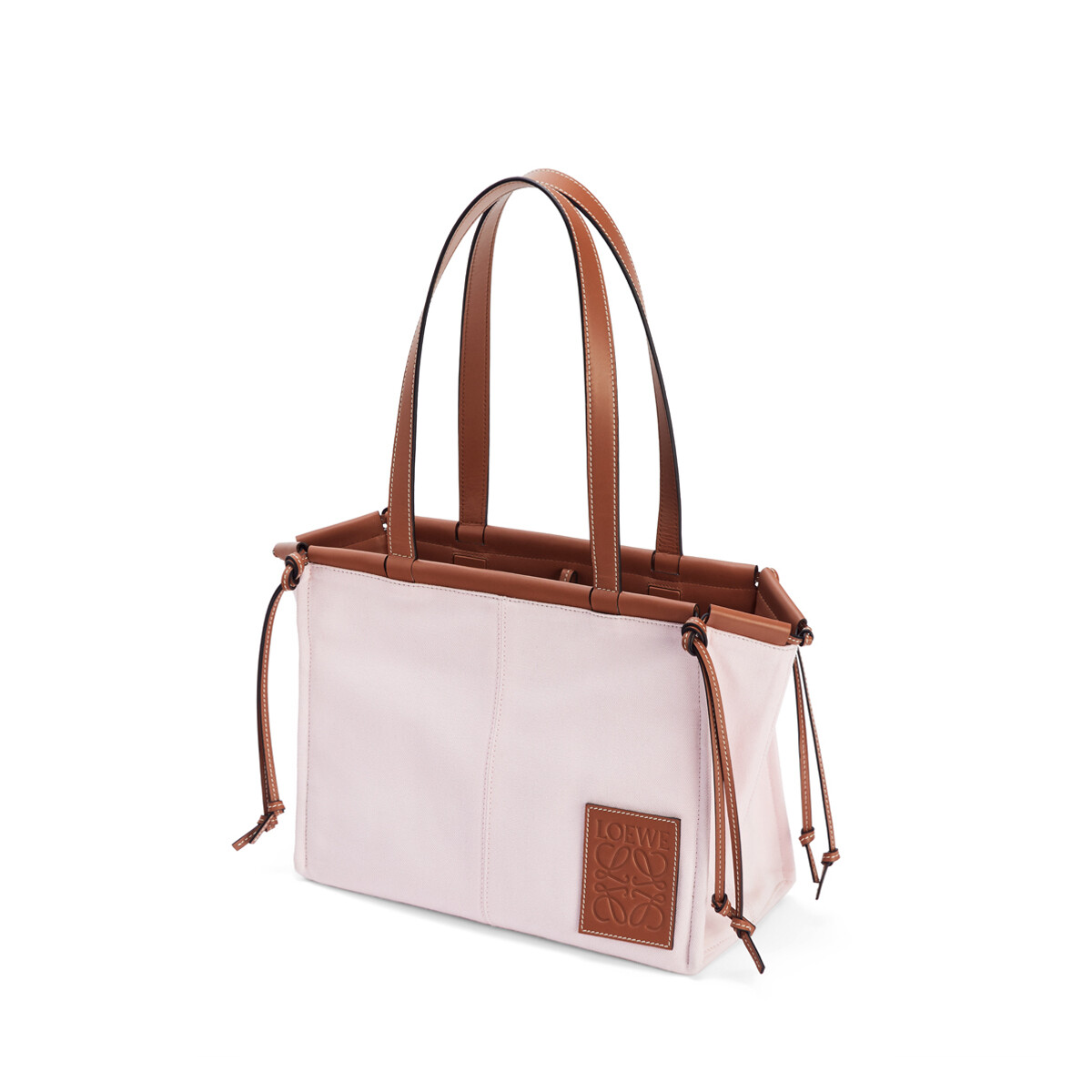 LOEWE Bolso Cushion Tote Pequeño Rosa Claro front