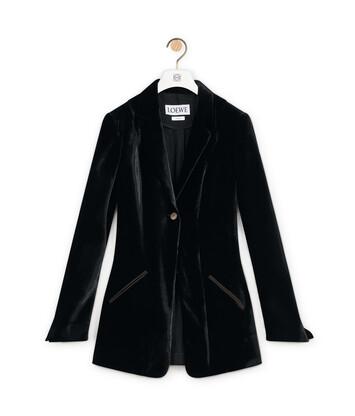 LOEWE Velvet Jacket Negro front