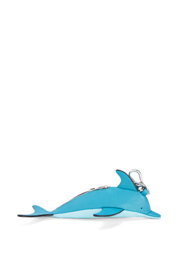 LOEWE 经典小牛皮海豚挂饰 Dark Peacock Blue/Aqua pdp_rd