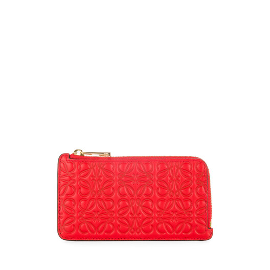 LOEWE Coin/Card Holder Primary Red front