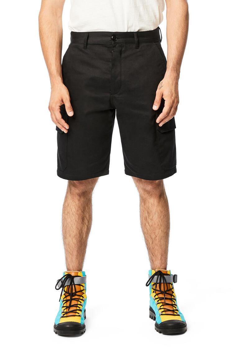 LOEWE Shorts En Algodón Negro pdp_rd