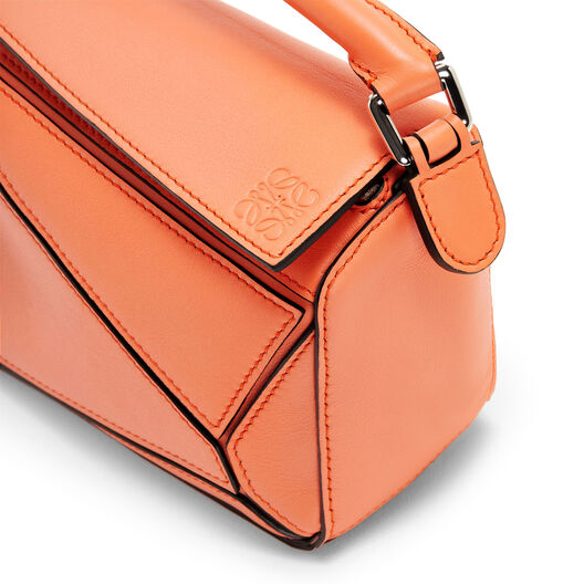 LOEWE Puzzle Mini Bag Bright Peach front