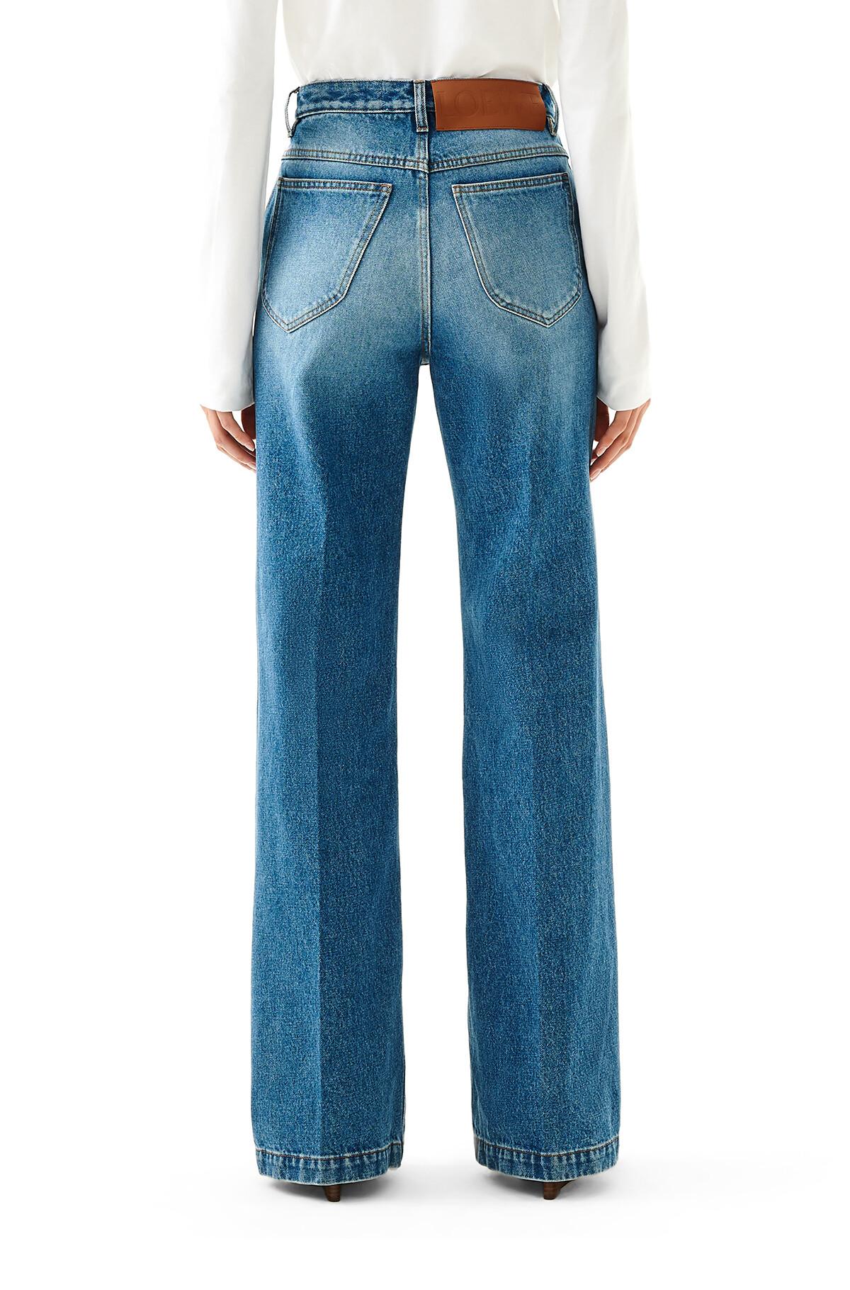 LOEWE Flare Denim Trousers washed denim front