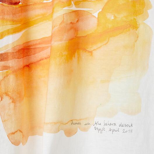 LOEWE Eln Watercolor Print T-Shirt 白 front