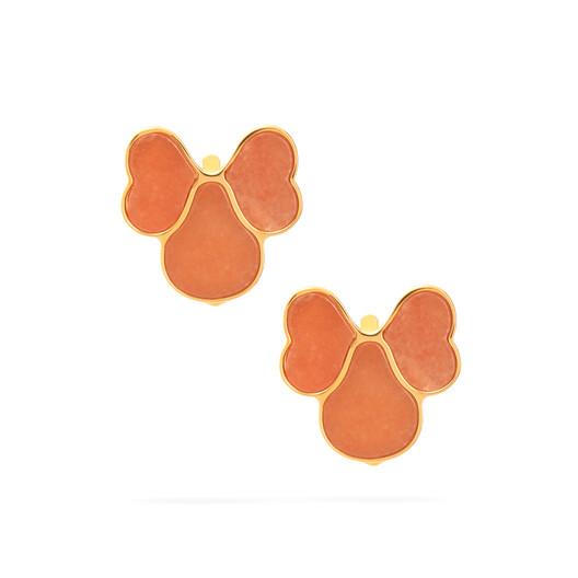 LOEWE Pansy Earrings Pink front