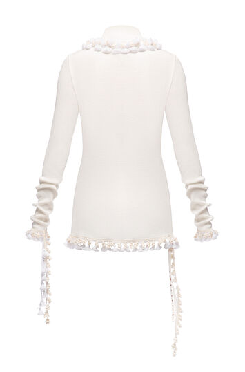 LOEWE Tassel Top Blanco front