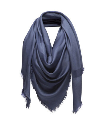 LOEWE 140X140 Scarf Giant Anagram Azul front