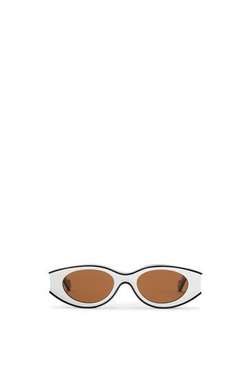 LOEWE Gafas de sol pequeñas en acetato Negro/Blanco pdp_rd
