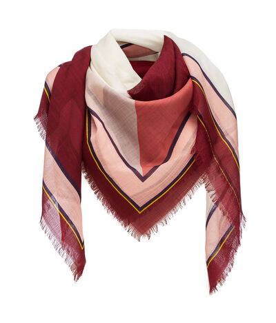 LOEWE 140X140 Scarf Puzzle Border Raspberry front