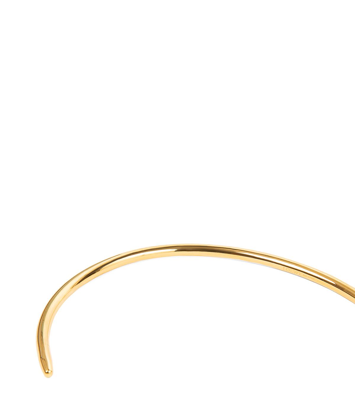 LOEWE Nail Choker gold/tan front