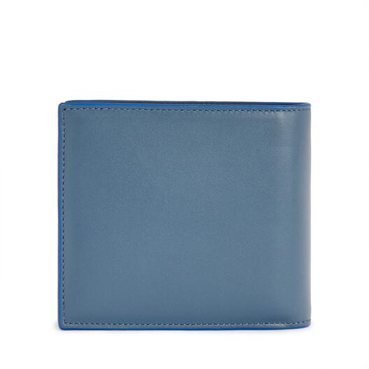 LOEWE Brand Bifold Wallet Steel Blue front