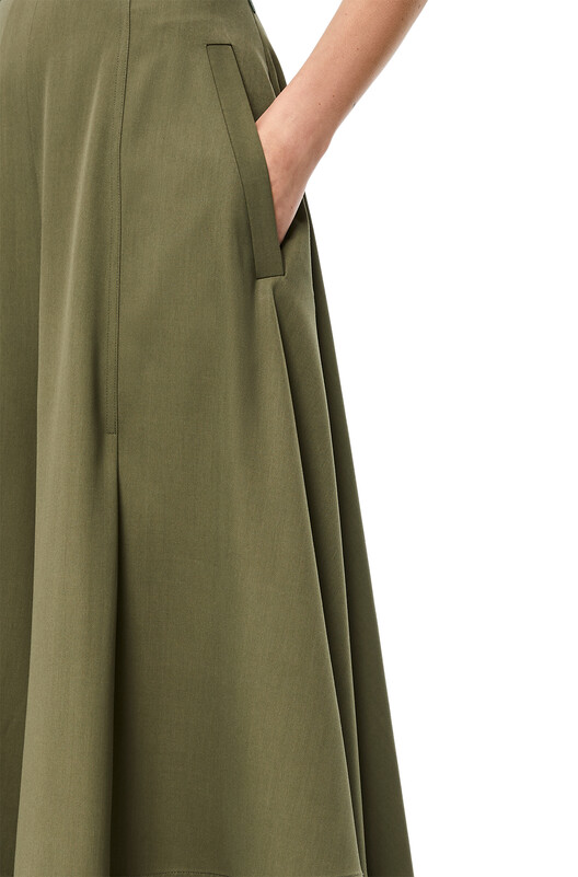 LOEWE Culotte Trousers Khaki Green front