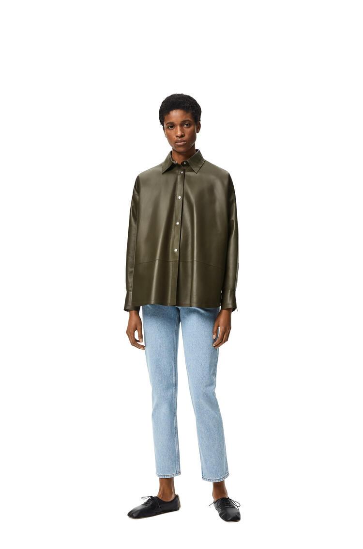 LOEWE Camisa oversize en napa Verde Oscuro pdp_rd