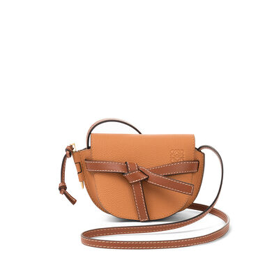 LOEWE Mini Gate Bag Light Caramel/Pecan Color  front