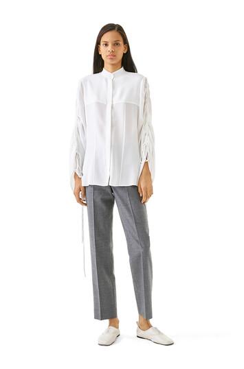LOEWE Drawstring Sleeve Blouse Blanco front