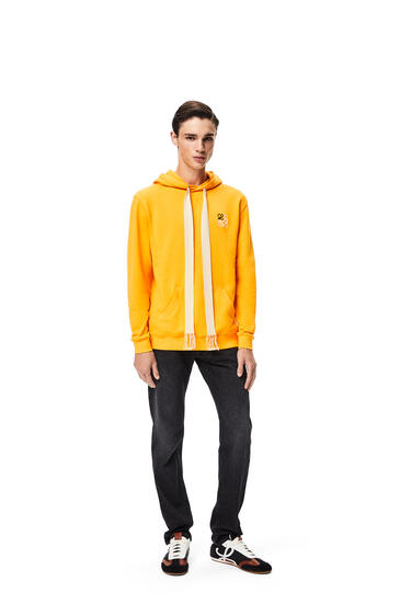 LOEWE Sudadera en algodón con capucha y anagrama bordado Naranja pdp_rd