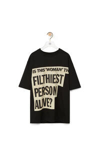 LOEWE Divine T-shirt in cotton Black pdp_rd