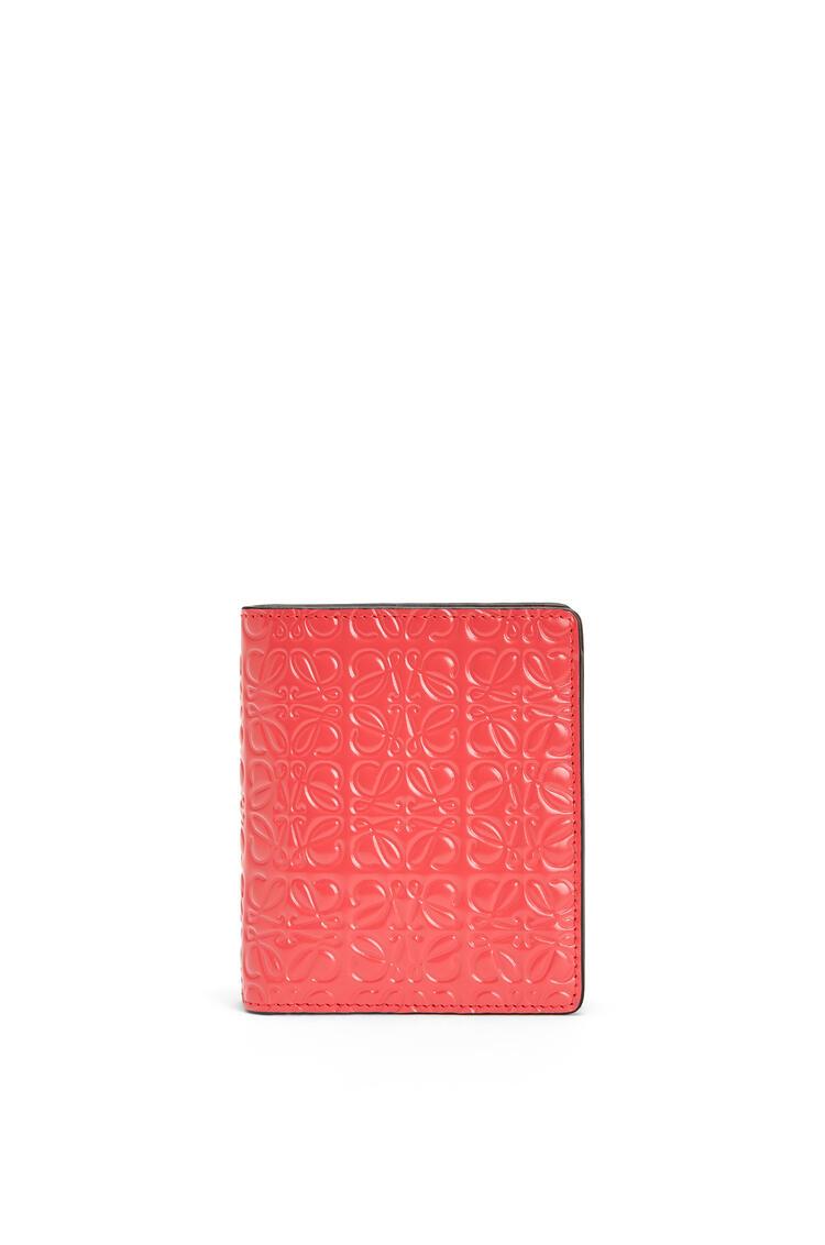 LOEWE Compact zip wallet in calfskin Poppy Pink pdp_rd