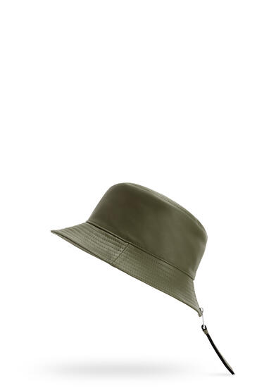 LOEWE Fisherman hat in nappa calfskin Khaki Green pdp_rd