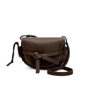 LOEWE Gate Woven Small Bag Chestnut front