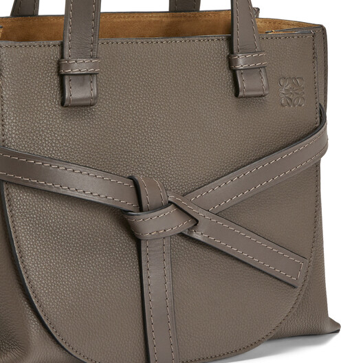 LOEWE Gate Top Handle Small Bag Dark Taupe front