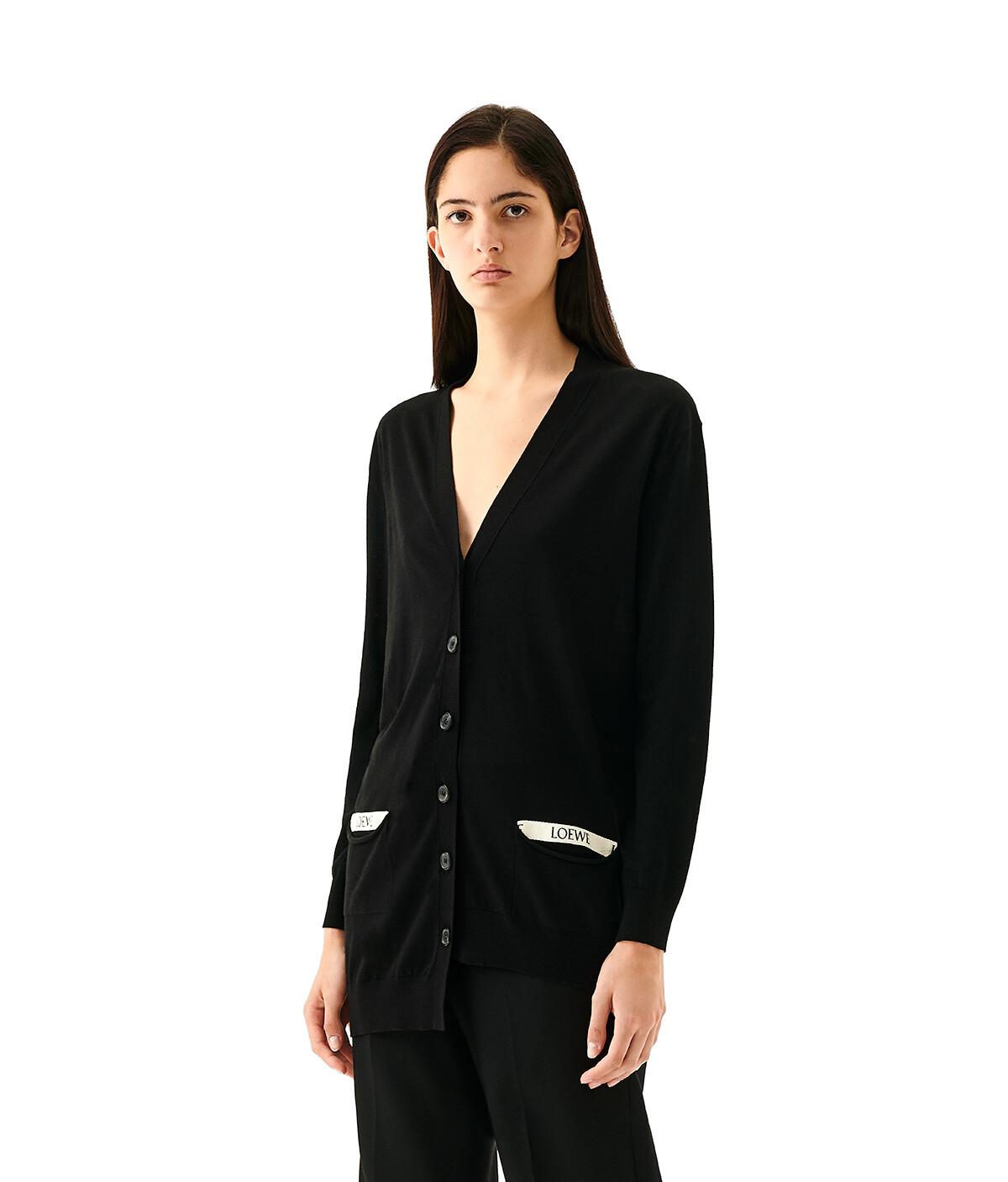 LOEWE Asymmetric Loewe Cardigan Black front