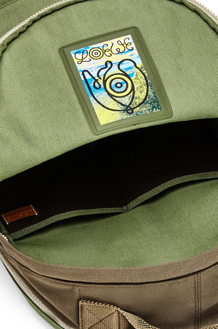 LOEWE Small Backpack in canvas Khaki Green pdp_rd