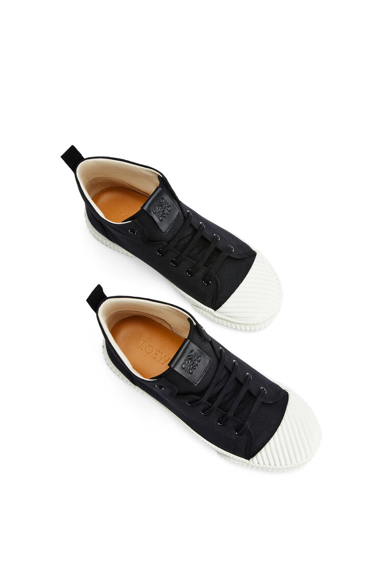 LOEWE High top sneaker in canvas Black pdp_rd