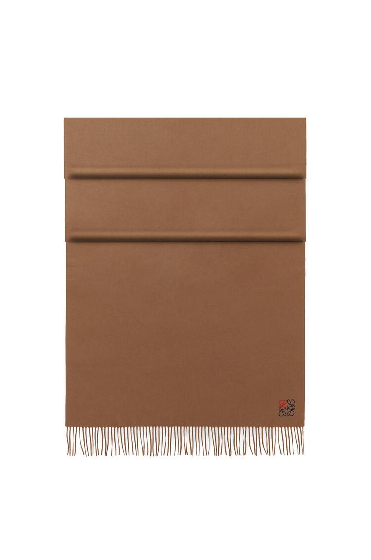 LOEWE Bufanda Anagrama de 70 x 200 cm en cashmere Camel pdp_rd