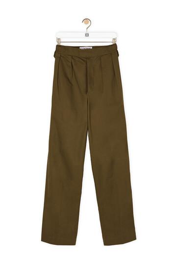 LOEWE Trousers Khaki Green front
