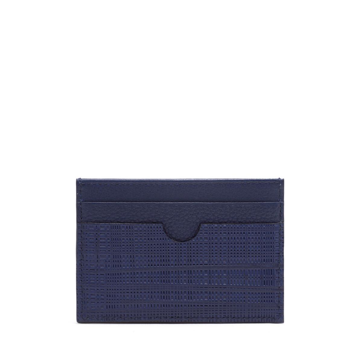 LOEWE Linen Plain Cardholder 海军蓝 front