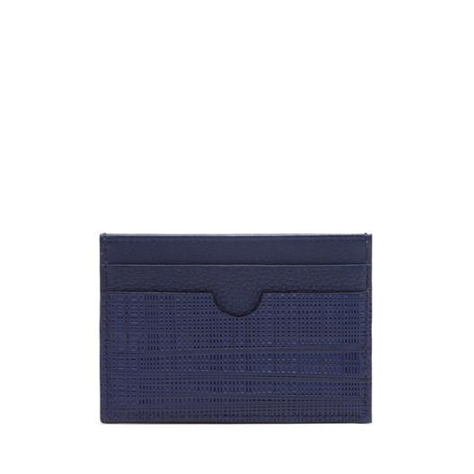 LOEWE Linen Plain Cardholder 海軍藍 front