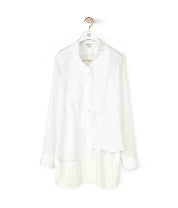LOEWE Lace Trim Asymmetric Shirt ホワイト front