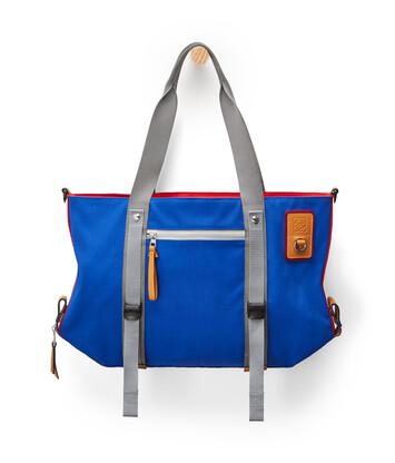 LOEWE Eye/Loewe/Nature Tote Bag Azul/Rojo front
