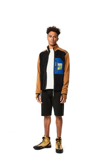 LOEWE Fleece Shorts In Cotton Black pdp_rd