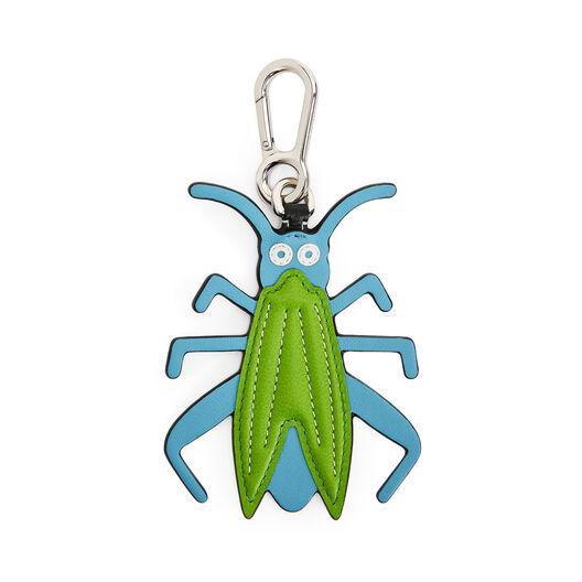 LOEWE Grasshopper Charm Light Blue/Green front