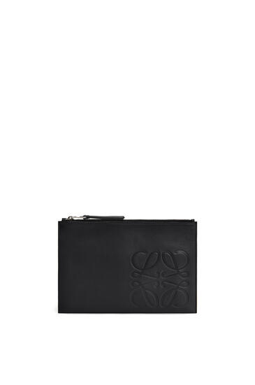 LOEWE Flat Pouch In Smooth Calfskin Black pdp_rd
