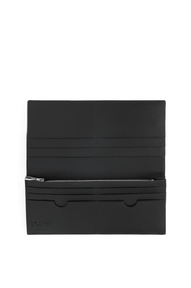 LOEWE Long horizontal wallet in calfskin Black pdp_rd