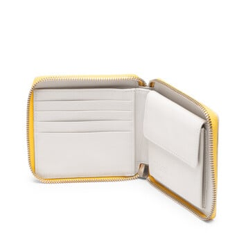 LOEWE Billetero C/C Cuadrado Amarillo/Blanco front