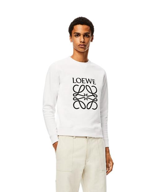 LOEWE Anagram Sweatshirt White front